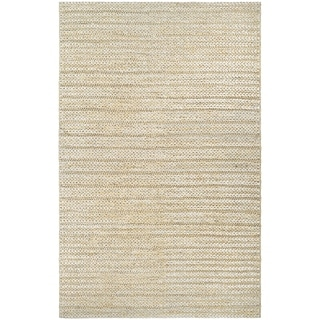 Couristan Ambary Cordage Beige Jute and Cotton Area Rug (5'3 x 7'6)