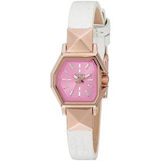 Diesel Women's DZ5492 'Timeframe' White Leather Watch