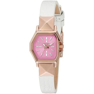 Diesel Women's DZ5492 'Timeframe' White Leather Watch