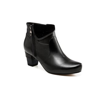 Vicenzo Leather Nicola Low Heel Ankle Women Leather Boots