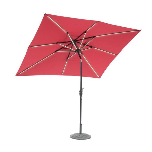 Rectangular Led Umbrella: Shop 9' X 7' Rectangular Next Gen Solar Lighted Umbrella