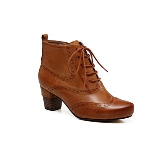Vicenzo Leather Isabella Chunky Low Heel Women Leather Booties
