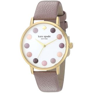 Kate Spade Women's KSW1174 'Metro' Pink Leather Watch