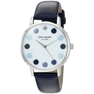 Kate Spade Women's KSW1173 'Metro' Blue Leather Watch