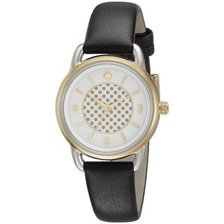 Kate Spade Women's KSW1162 'Boathouse' Black Leather Watch