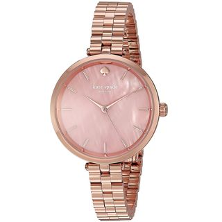 Kate Spade Women's KSW1158 'Holland' Rose-Tone Leather Watch
