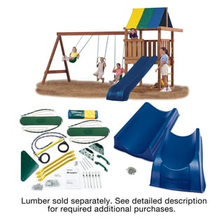 Link to Swing-N-Slide Wrangler Deluxe Play Set Hardware Kit with 2-Piece Summit Slide Similar Items in Outdoor Play