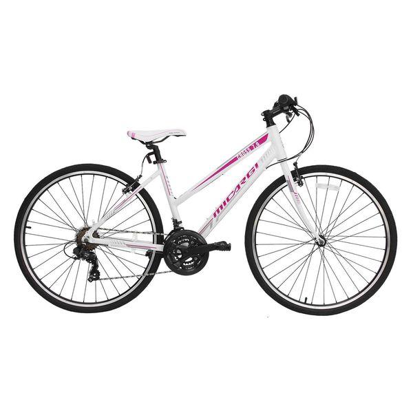 Micargi Cross 7.0 White Hybrid Bicycle