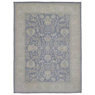 Fine Rug Collection Handmade Fine Peshawar Blue Wool Oriental Rug (8'9 x 11'10)