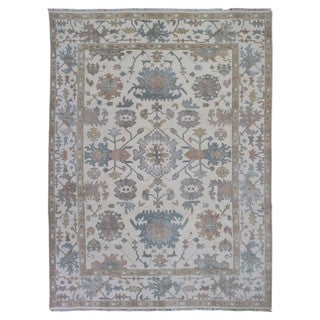 FineRugCollection Hand Made Oushak Beige Wool Oriental Rug (9' x 12')