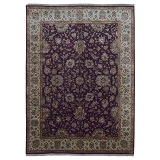 Fine Rug Collection Handmade Fine Tabriz Red Wool Oriental Rug (8'9 x 12')