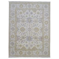 FineRugCollection Handmade Oushak Beige Wool Oriental Rug - 9' x 11'9
