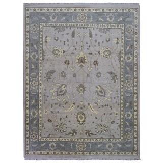 Fine Rug Collection Handmade Oushak Grey Wool Oriental Rug (9'4 x 11'10)