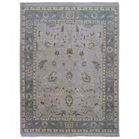 FineRugCollection Handmade Oushak Grey Wool Oriental Rug (9'4 x 11'10)
