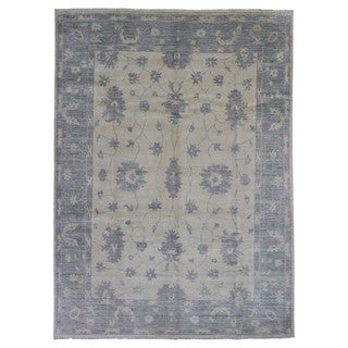 Fine Rug Collection Handmade Oushak Beige Wool Oriental Rug (9' x 11'10)