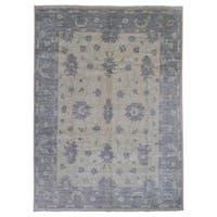 FineRugCollection Handmade Oushak Beige Wool Oriental Rug - 9' x 11'10