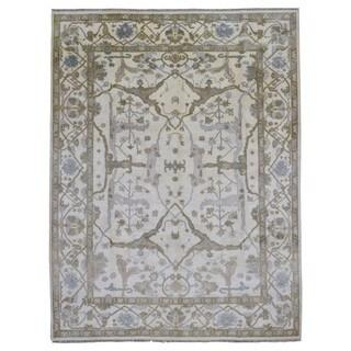 Fine Rug Collection Handmade Oushak Beige Wool Oriental Rug (9' x 11'6)