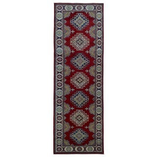 FineRugCollection Handmade Kazak Red Wool Oriental Runner (2'8 x 8'7)