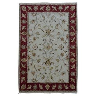 FineRugCollection Hand Made Peshawar Beige Wool Oriental Rug (6' x 8'10)