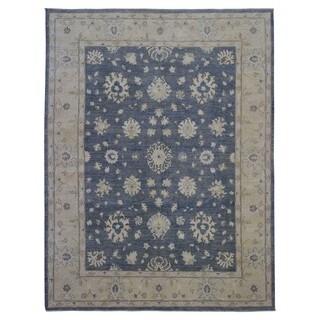 Fine Rug Collection Handmade Fine Peshawar Blue Wool Oriental Rug (9' x 11'10)