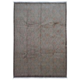 Fine Rug Collection Handmade Nepali Grey Wool Oriental Rug (8'6 x 11'8)