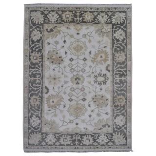Fine Rug Collection Handmade Oushak Beige Wool Oriental Rug (9'1 x 11'10)