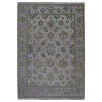FineRugCollection Handmade Oushak Grey Wool Oriental Rug (8'10 x 12'1)