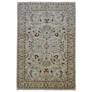FineRugCollection Handmade Fine Peshawar Beige Wool Oriental Rug (6' x 8'10)