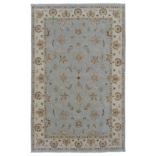 FineRugCollection Hand Made Fine Peshawar Blue Wool Oriental Rug (6'1 x 9'1)