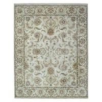 FineRugCollection Hand-knotted Fine Kashan Beige Wool Oriental Rug (7'11 x 10'1)