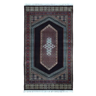 Fine Rug Collection Hand-knotted Bijar Red Wool Oriental Rug (2'10 x 5')