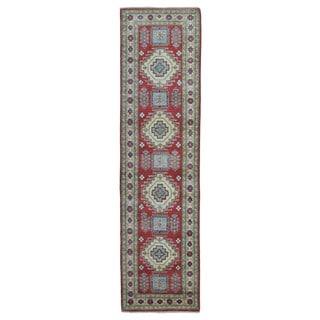 Fine Rug Collection Handmade Pakistan Kazak Red Oriental Runner (2'6 x 9'10)