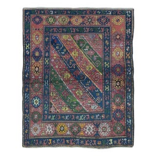 FineRugCollection Hand Knotted Semi-Antique Persian Kazak Red Wool Oriental Rug (4'7 x 5'9)