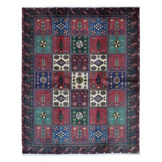 Fine Rug Collection Hand-knotted Semi-antique Persian Bakhtiari Red Wool Oriental Rug (5'3 x 6'7)