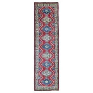 Fine Rug Collection Handmade Pakistan Kazak Red Oriental Runner (2'8 x 9'8)