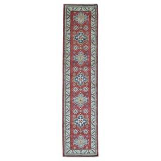 Fine Rug Collection Handmade Pakistan Kazak Red Oriental Runner (2'5 x 10'7)