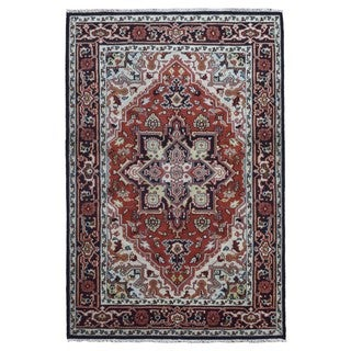 FineRugCollection Hand Knotted Serapi Red Wool Oriental Rug (6'4 x 9'1)