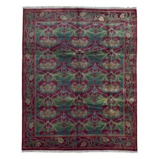 FineRugCollection Hand Knotted Fine Tabriz Red Wool Oriental Rug (7'8 x 9'9)
