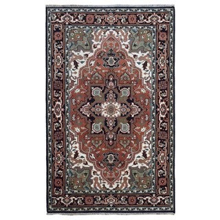 FineRugCollection Hand Knotted Serapi Red Wool Oriental Rug (5'11 x 9'3)