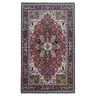 Fine Rug Collection Hand-knotted Serapi Red Wool Oriental Rug (5'6 x 9')