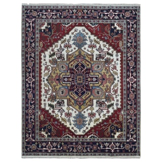 FineRugCollection Hand Knotted Serapi Red Wool Oriental Rug (8' x 10')