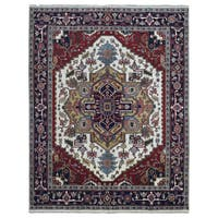 FineRugCollection Hand-knotted Serapi Red Wool Oriental Rug (8' x 10')