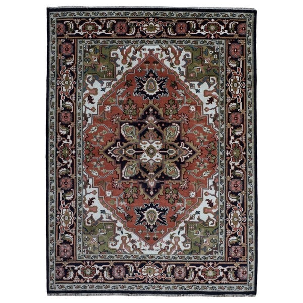Hand Knotted Heriz Wool Fine Persian Oriental Area Rug: Shop FineRugCollection Hand-knotted Heriz Red Wool