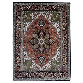 FineRugCollection Hand Knotted Heriz Red Wool Oriental Rug (8'4 x 10'11)