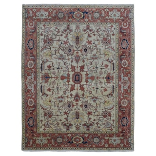 FineRugCollection Hand-knotted Fine Mahal Red Wool Oriental Rug (7'5 x 9'7)
