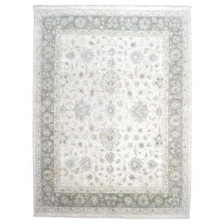 Fine Rug Collection Hand-knotted Peshawar Beige Wool Oriental Rug (8'10 x 12')