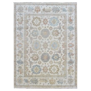 FineRugCollection Hand-knotted Oushak Beige Wool Oriental Rug (8'8 x 11'8)