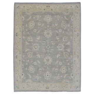 FineRugCollection Hand Made Fine Peshawar Brown Wool Oriental Rug (6'9X8'9)