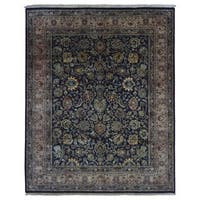 FineRugCollection Handmade Fine Tabriz Black Wool Oriental Rug (8'1 x 9'10)