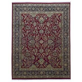 Fine Rug Collection Handmade Fine Tabriz Red Wool Oriental Rug (9' x 12')
